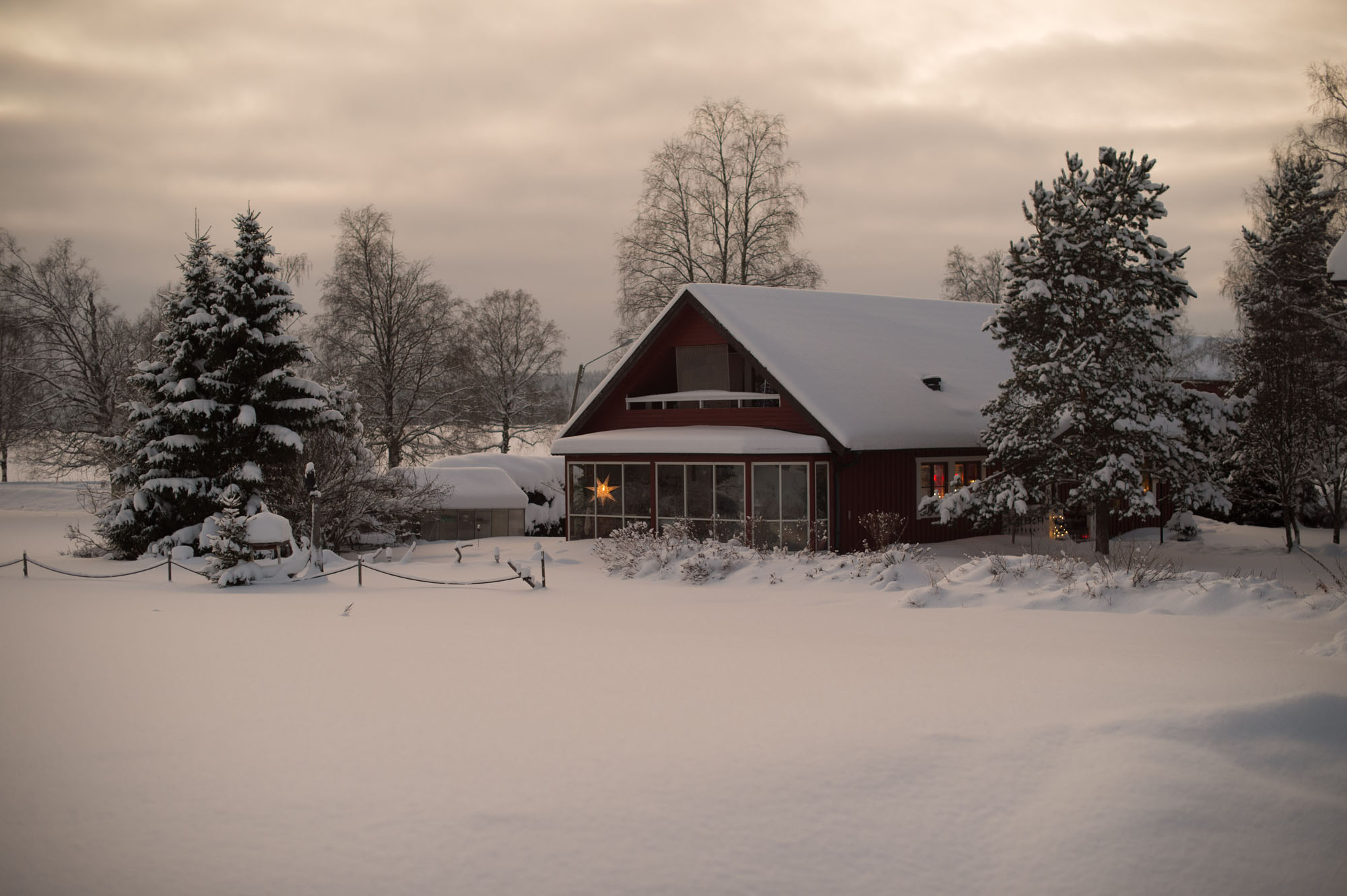 The farm during winter.