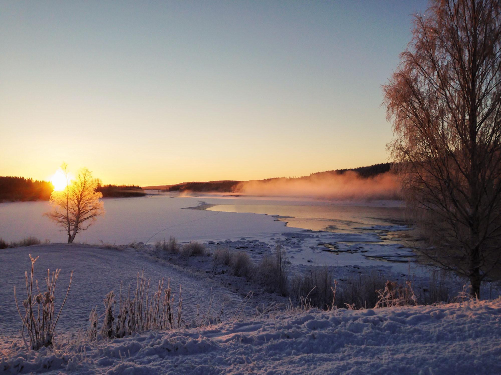 The Vindel river.