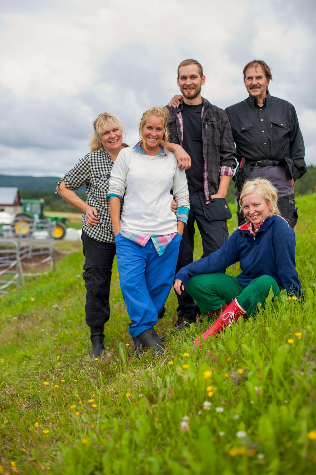 Rödåsens gård - familjen